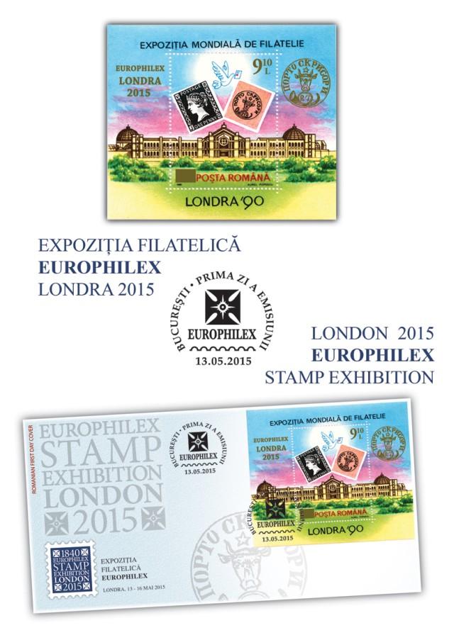 Expozitia Filatelica EUROPHILEX Londra 2015
