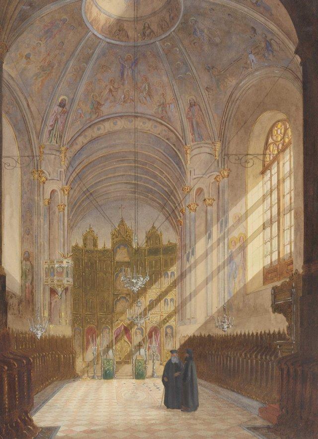 Interiorul Bisericii Sf. Spiridon Nou din Bucuresti, 1869